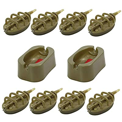 Croch Fishing Inline Method Feeder with Quick Release Mould for Carp Fishing Bait Accessories 15g,20g,25g,30g,35g,40g,50g,60g