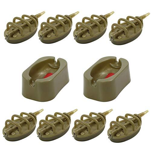 Croch Method Feeder Set Inline System zum Karpfenangeln 15g, 20g, 25g, 30g, 35g, 40g, 50g, 60g -