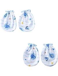 c8ba2438b0006 WonderKids Baby s Cotton Sea Print Mittens (Multicolour