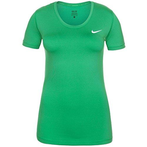 Cool Mesh-polo (Nike Damen Oberbekleidung Pro Cool Shortsleeve Top, grün - grün, XS)