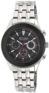 Titan Octane Chronograph Black Dial Men's Watch -NK9324KM01M