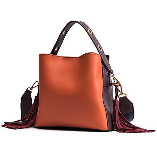 ZLULU Damen-Schultertaschen Damenhandtaschen Tragbare Diagonale Quastenbeuteltasche Mit Breitem Schultergurt Wilde Weibliche Umhängetasche, B -