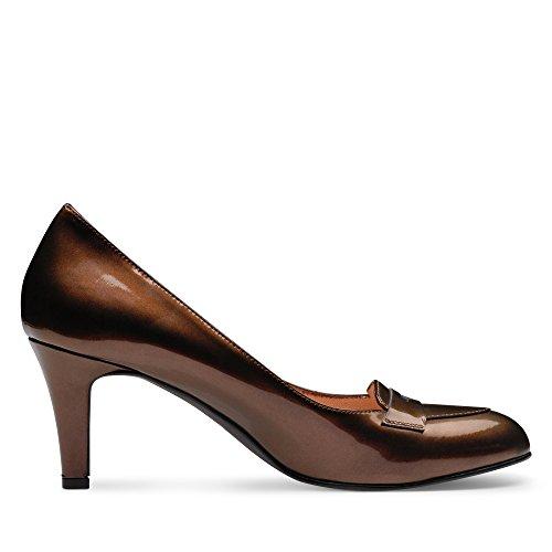 Escarpins femme cuir verni Marron