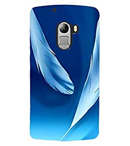 ColourCraft Beautiful Feathers Design Back Case Cover for LENOVO A7010