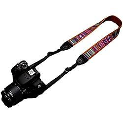 Woodmin Tracolla da collo o da spalla, per fotocamera digitale Canon Nikon Fuji Olympus Panasonic Pentax Sony Samsung DSLR SLR (1229)