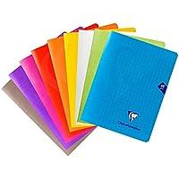 Clairefontaine 293751AMZC Lot de 9 Cahiers Agrafés Mimesys - 17x22 cm 48 Pages Grands Carreaux Papier Blanc 90 g…