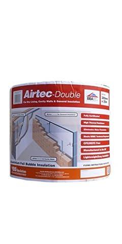 Airtec 300mm x 25m x 3.7mm Double Multi-Layer Bubble Film Insulation