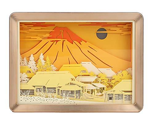 Fuji Box (CHSHY 3D Paper Carving Lampe, Night LED Paper Cut Shadow Light Box, Mount Fuji Mood Night Light Romantic Atmosphere Lover)