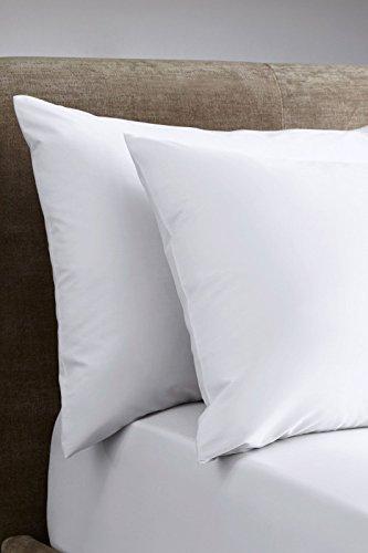 Cloe' Louis extra tiefes Spannbettlaken 400TC, 100% ägyptische Baumwolle, 40cm tief, für Einzel-, Doppel-, King- und Super-Kingsize-Betten, inkl. 2 Kissenbezüge, weiß, Oxford Pair of Pillow Cases -