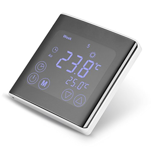 4x floureon raumthermostat byc17 gh3 thermostat lcd. Black Bedroom Furniture Sets. Home Design Ideas