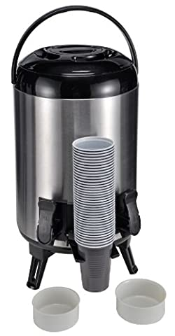 9 L Airpot Beverage Dispenser Hot Cold Drinks Stainless Steel