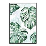 Tropical Tortue Feuille Toile imprimée Peinture à l'huile d'huile Affiches Photo Dessin pour la Maison Mur de Bureau