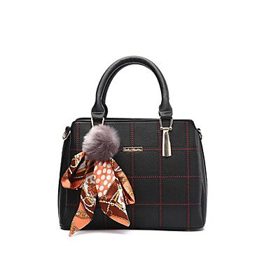 Frauen Handtasche Mode Plaid Schulter Messenger Crossbody Taschen / Handtaschen Tote Black