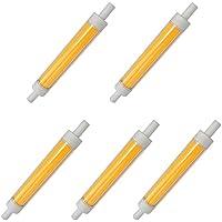 Aoxdi 5X Dimmerabile R7S Lampadina LED 10W R7S 118mm, Bianco Caldo, Con Funzione Dimmerabile COB Lampadina LED R7s 10W, AC220-240V