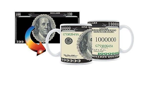 Geldtasse Tasse Wechselmotiv Millionärstasse Geldschein Scherzartikel