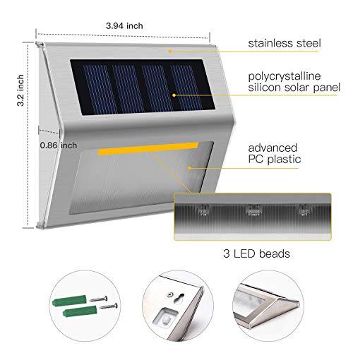aplique solar sobremuro aplique solares aplique solar led exterior recargable focos solares...