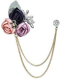 Cdet 1PC Femme Bijoux Broche Epingle en Aillage Mode Forme des Fleurs Corsage Brooch de d/écoration Mode /él/égante Filles Style Nouveau 4x6cm