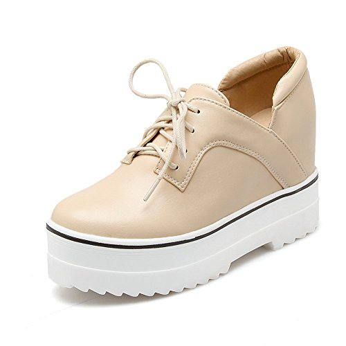 Adee Mesdames clair polyuréthane Pompes Chaussures Beige - beige