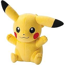 TOMY Pikachu Monstruo Felpa Amarillo - Juguetes de Peluche (Monstruo, Amarillo, Felpa, 3 año(s), Pokemon, Pikachu)