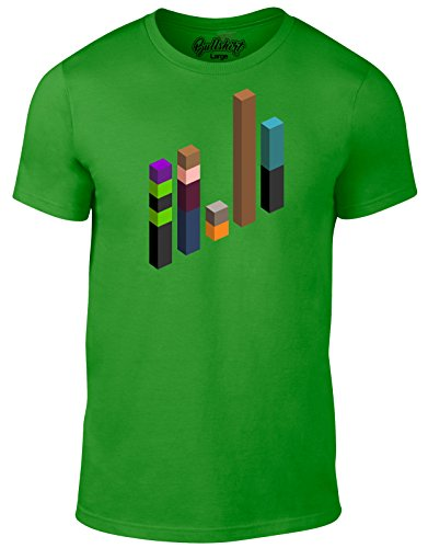 n inspiriert by Guardians of The Galaxy Minecraft - Guardians of Mine T-Shirt (Irisches Grün, Mittel) ()