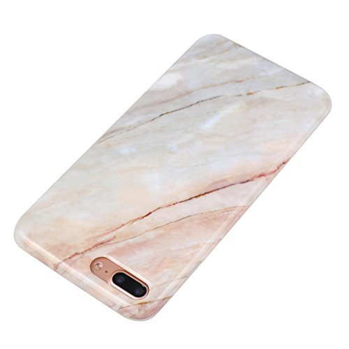 Schutzhülle iPhone 7/8 Plus 5.5 Zoll, iPhone 8 Plus Handyhüllen, iPhone 7 Plus Silikon Hülle mit Marmor, Marble Design, Moon mood® TPU 3D Handyhülle Muster Case Cover für Apple iPhone 7 Plus/iPhone 8  Marmor 4