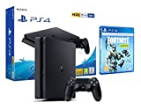 PS4 Slim 500gb Negra Playstation 4 + Fortnite Lote de Criogenización [Incl 1000 paVos]