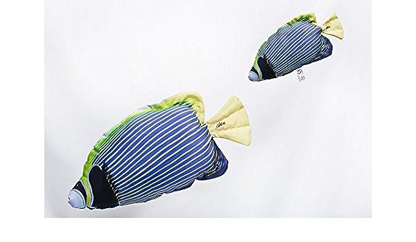 Poisson Coussin Cadeau Angler Doudou oreiller peluche Les Perches 32 cm