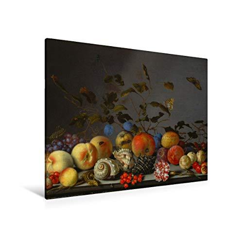 fotobar!style Premium-Leinwand 100 x 80 cm Keilrahmen, Tiefe 2 cm Balthasar Van der AST - Stilleben mit Früchten. -