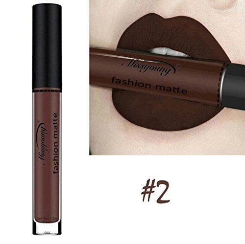 ESAILQ 8ml Flüssige Lippenstift Feuchtigkeitscreme Langlebig wasserdicht Samt Lippenstift Kosmetik Schönheit Make up 12 Farbe (B)