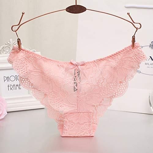 CozyBella Damen Unterhosen mit Spitzenbesatz Slip Bikini Taillenslip Unterwäsche Hipster - 4