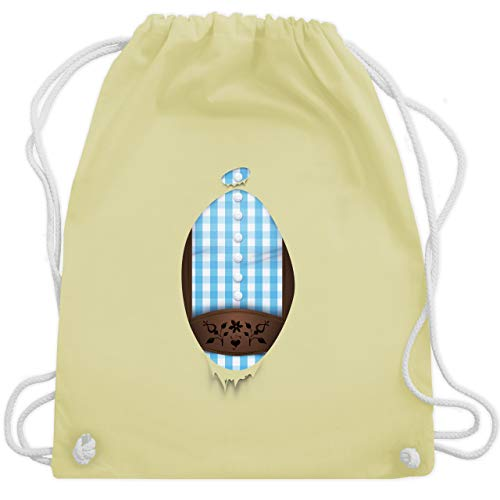 Super-Lederhosen - Unisize - Pastell Gelb - WM110 - Turnbeutel & Gym Bag -