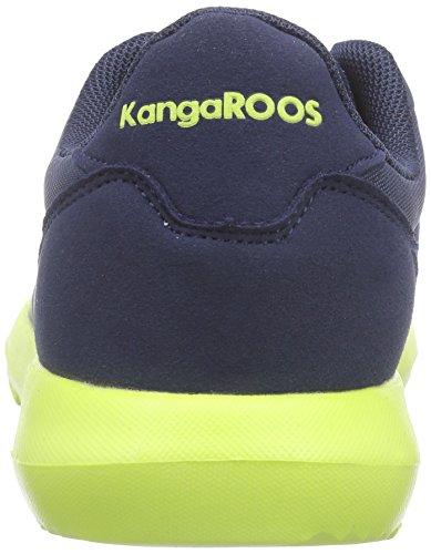 KangaROOS K-x 2222 Unisex-Kinder Low-Top Blau (dk navy/lime 481)