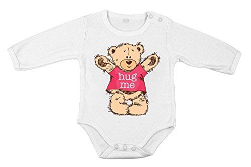 Bébé coton unisexe Body nouveau-né Long one-piece m'accueillent cadeau de chemise d'ours en peluche