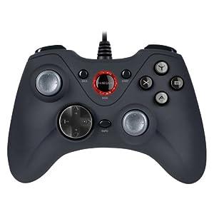 Speedlink Gamepad für PC/Computer – Xeox Pro Analog Gaming Controller USB (8-Wege-Steuerkreuz – Rapid-Fire-Funktion – Dual-Mode-Technologie) Schwarz