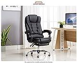Kepler Brooks Italia High Back Leatherette Office/Desk Chair (Black)