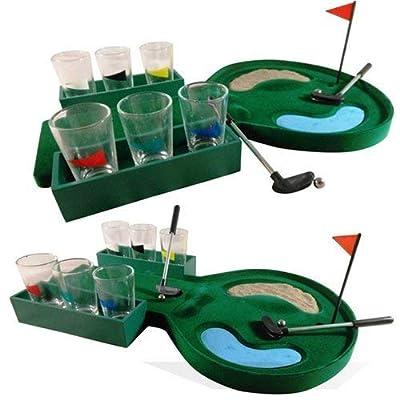Vickys 19Caddie de golf Mini Jeu à boire Verres Shots Putter adultes Boisson fête Fun Play