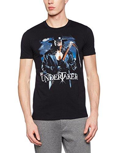 WWE Herren T-Shirt Undertaker Scythe, Schwarz (Black Black), S (Triple T-shirt H)