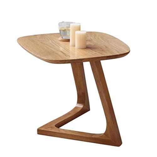 M-JH Table d'appoint, Nordic Simple Coffee Table Petit Appartement Table à thé Creative Pure Canapé en Chêne Blanc en Chêne Blanc en V (Couleur : A)
