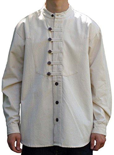 Trachtenhemd Ache S-XXXL weiß, beige, grün, blau - Baumwoll-Hemd Oktoberfest Beige