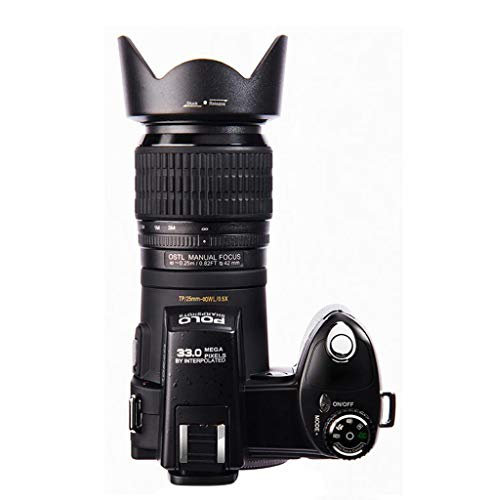 YAMEIJIA Digitalkameras 13MP DSLR-Kameras 24X Telephotos Lens & 8X Digital Zoom Wide Angle Lens LED Spotlight