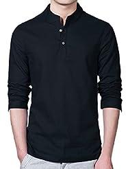 T-shirts, Tefamore Mode Hommes Linge à manches longues Slim Fit Casual T-shirts