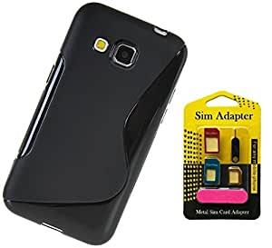 Wellmart Grip Back Cover For Micromax Bolt Q324 Combo Offer Free 5 In 1 Metal Sim Card Adapter
