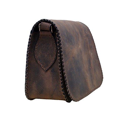 Vintage autentico satinato mucca spalla unisex di cross-corpo ogni sacchetto