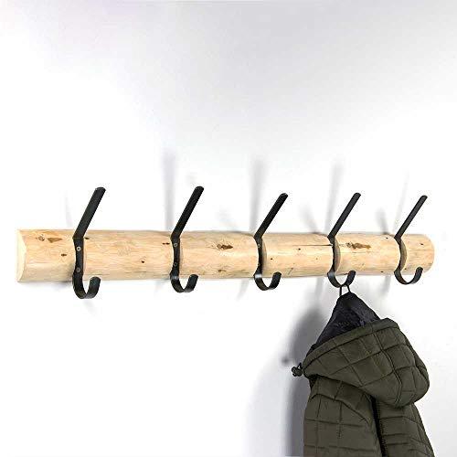 garderobe baumstamm holz Pharao24 Baumstamm Garderobenhaken aus Kiefer Massivholz Stahl in Anthrazit