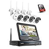 SANNCE 4CH 720P Wireless Security HD Network IP NVR Wifi Kit with Build-in
