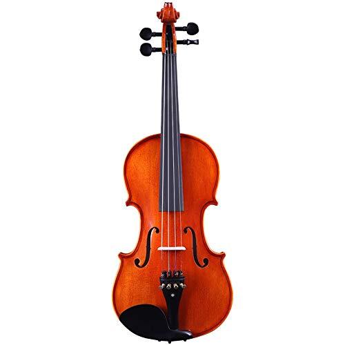 Miiliedy Frische natürliche handgemachte Massivholz Violine 4/4 3/4 1/2 1/4 1/8 Anfänger Kinder Erwachsene üben Leistung Geige mit Violine Box Bow Kolophonium ( Size : 3/4 )