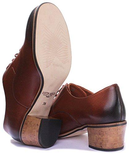 Justin Reece 9600, Scarpe stringate donna Brown