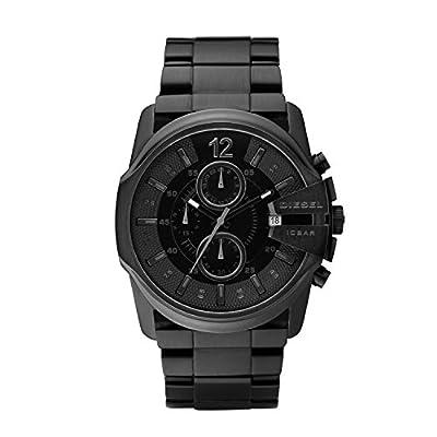 Diesel DZ4180 - Reloj analógico de cuarzo para hombre con correa de acero inoxidable, color negro