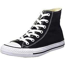 Converse Chuck Taylor All Star Hi, Zapatillas Altas Unisex Adulto, Negro (Black 001), 37.5 EU