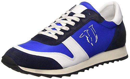 Trussardi Jeans 77S066XX51, Scarpe Low-Top Uomo, Blu, 43 EU